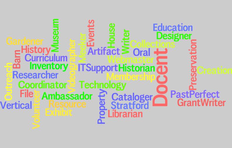Volunteer - Wordle - Delaware County Historical Society - Delaware Ohio