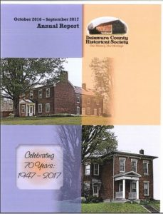 2017 Annual Report - Delaware County Historical Society