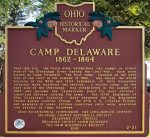 Camp Delaware Historic Marker - History Websites - Delaware County Ohio