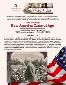 Warren G. Harding Symposium - OSU Marion - History - Ohio