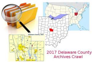 Archives Crawl - Delaware County Ohio - Delaware County Historical Society - Delaware Ohio