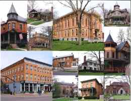 Architectural Gems of Delaware Ohio - Photo Collage - Delaware County Historical Society - Delaware Ohio