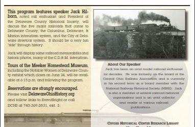 Railroads in Delaware County - History Program - Delaware County Historical Society - Delaware Ohio