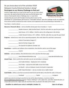 DCHS History Challenge - History Program - Delaware County Historical Society - Delaware Ohio