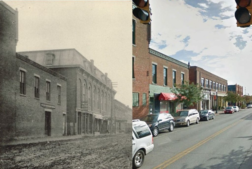 Then and Now East Winter Street - History Program - Delaware County Historical Society - Delaware Ohio