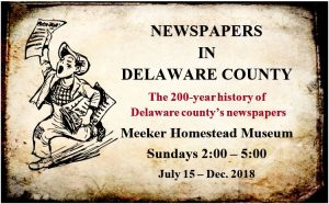 Newspapers in Delaware County - History Exhibit - Delaware County Historical Society - Delaware Ohio