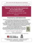 18th Amendment Program - Kelton House - Columbus Ohio