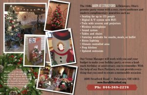 Holiday Party - The Barn at Stratford - Event Venue - Delaware Ohio