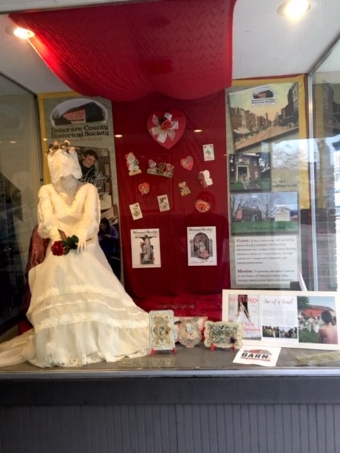 Love and Marriage - Hair Studio Window - Sidewalk Local History Exhibit - Delaware County Historical Society - Delaware Ohio