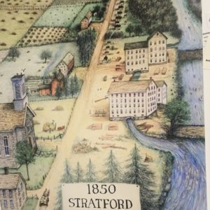 Stratford on Olentangy 1850 - Underground Railroad - Linda Wesner - Color Pencil Drawing Print