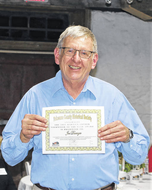 Joe Dwenger - Volunteer of the Year -2019 Volunteer Recognition - Delaware County Historical Society - Delaware Ohio
