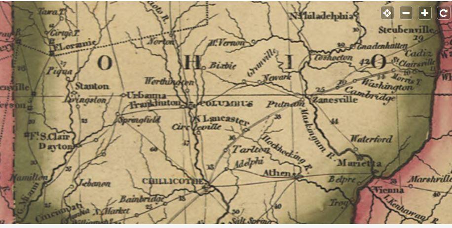 Map shows Delaware Beginning