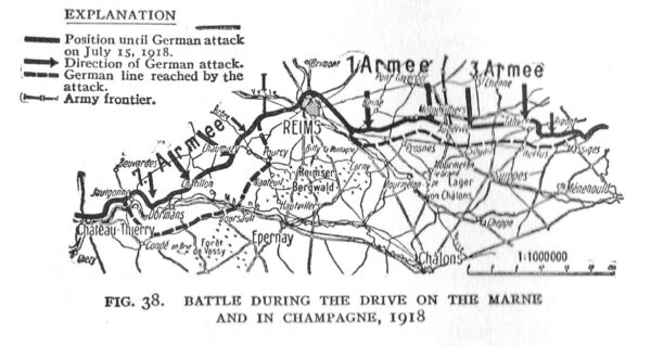 World War I Victory Medal - Map of Campaigns