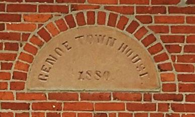Genoa Township Hall - Cornerstone - Genoe Town House 1808