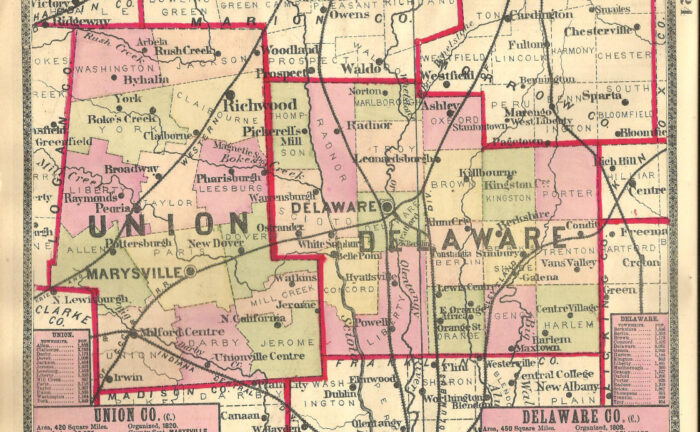 Delaware County on the Map: Boundaries