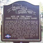 OSU OWU Football Game - Historical Marker - Delaware Ohio